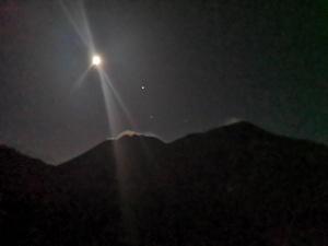 Luna Piena sull'Etna e Crateri Sommitali